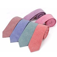 Men's Soft Colors Collection Skinny Ties - 9 Colors