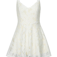 White Cutwork Lace Skater Cami Dress