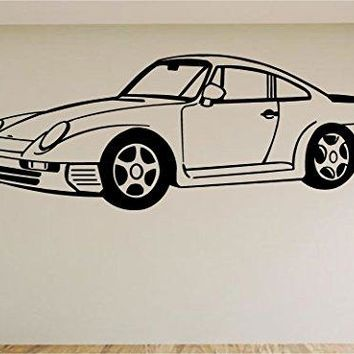 Porshe Race Car Auto Wall Decal Stickers Murals Boys Room Man Cave