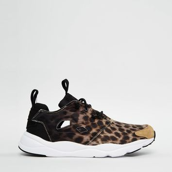 Reebok Fury Lite Black Animal Print Trainers