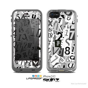 The Newspaper Letter Collage Skin for the Apple iPhone 5c LifeProof Case