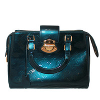 Louis Vuitton Blue Vernis Melrose Avenue Handbag