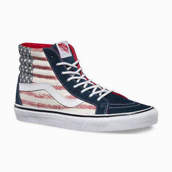 Vans Americana Sk8-Hi Reissue Womens Shoes Red White Blue In Sizes 8f43adeea8