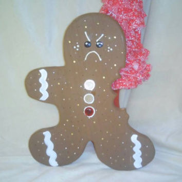 Grumpy Christmas Gingerbread Man