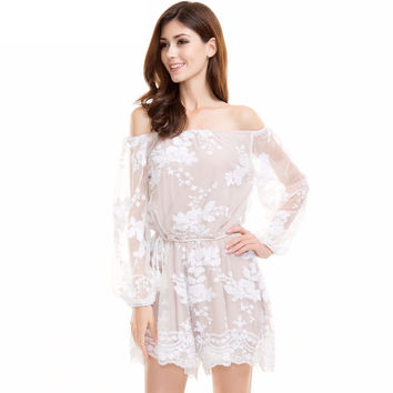 Let's Go White Sequin Romper