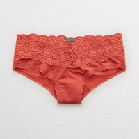 Aerie Shine Cheeky + Castaway Lace , Harvest