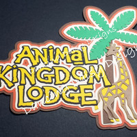 Animal Kingdom Lodge Resort Hotel Disney World die cut paper piecing Title for Scrapbook
