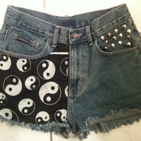 Trippy Zen Ying Yang Acid Trip High Waist Shorts