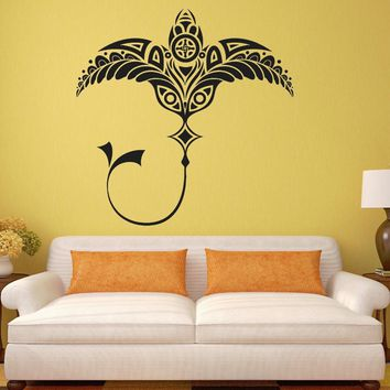 Tribal Style Wall Decal Ray Fish Vinyl Stickers For Kids Rooms Removable Marine Room Decals Interior Sea Animal Pattern SYY531