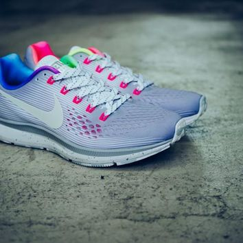 "Nike Air Zoom Pegasus 34 BeTtrue 34 Running Shoes ""Rainbow"" 899475-001"