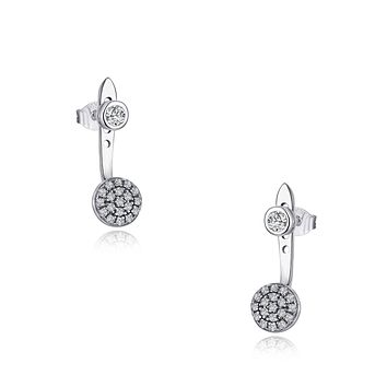 Brenna Rhodium Plating Round Charm Earrings, Ring, Gifts for Mom, Best Friends, Silver Tone