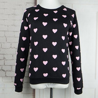High Quality Kawaii Casual Cute Heart Harajuku Emoji Sweatshirt