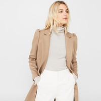Puffed sleeves coat
