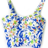 Sweet Floral Cropped Cami - OASAP.com