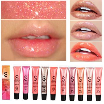 Professional Brand Lip Make Up Diamond Glitter Waterproof Lipgloss Long Lasting Moisturizer Shimmer Nude Lipstick Liquid Makeup