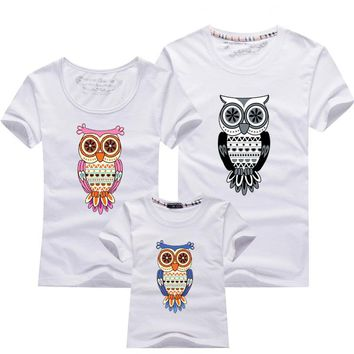 Family Look Owl Printed T Shirts 12 Colors Family Summer Outfits