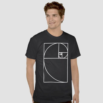 Golden Ratio ·· Unisex T shirt, Sacred Geometry Clothing.