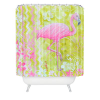 Madart Inc. Flamingo Dance Shower Curtain