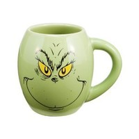 Vandor 52878 Grinch, Oval Ceramic Mug, Green, 18-Ounce