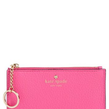 kate spade new york 'large cobble hill' pebbled leather card holder | Nordstrom