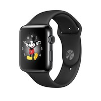 Apple Watch - Space Black Stainless Steel Case with Black Sport Band