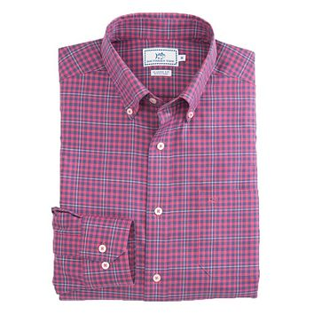 Appaloosa Gingham Sport Shirt in Channel Red by Southern Tide