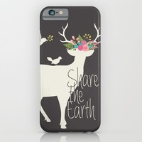Share the Earth iPhone & iPod Case by Bohemian Gypsy Jane