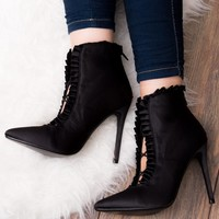 NISSI Black Ankle Boots Shoes from Spylovebuy.com