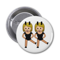 Woman With Bunny Ears Emoji Buttons