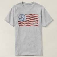 Patriotic T-Shirt (mens womens kids) Peace Flag