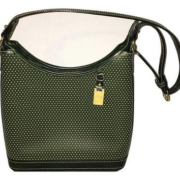 Vintage Dooney & Bourke Green Cabriolet Leather Handbag