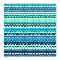 Mix #329, Blue Aztec Shower Curtain> Shower Curtains> Ornaart