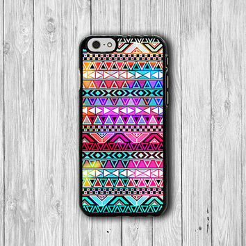 iPhone 6 Case - Aztec Rainbow Colorful Phone 6 Plus Cases, Gemetric Retro Plastic iPhone 5, 5S, iPhone 4, 4S Cover, Personalized Custom Gift