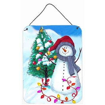 Trimming the Tree Snowman Wall or Door Hanging Prints PJC1024DS1216