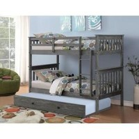Zoe Modern Bunk Bed with Trundle