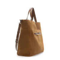 BASIC SUEDE SHOPPER - Handbags - TRF | ZARA United States