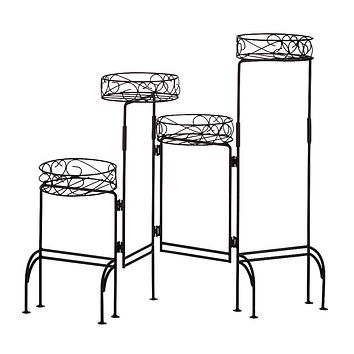 Set of 2 Four-Level Plant Stands For Inside