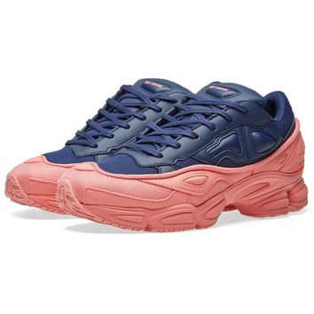 Pink Rose and Navy Contrast Ozweego by RAF SIMONS