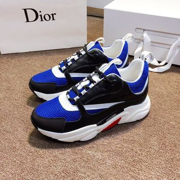 Dior Men Women Casual Shoes Boots  fashionable casual leather Heels Sandal Shoes