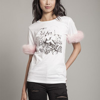 Bubblegum Pink Long Fluffy Tee