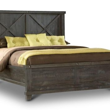 Vantage Wood Back Bed RUSTIC BLACK