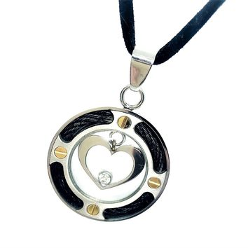 ON SALE - Floating CZ Heart Stainless Steel Necklace