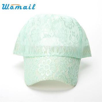 Womail Women's Baseball Caps Lace Sun Hats Breathable Mesh Hat Gorras Summer Cap For Women Snapback Casquette #20 Gift 1pc