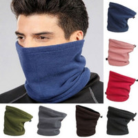 Mens Women Thermal Warm Fleece Snood Scarf Hood Neck Warmer Face Mask Beanie Hat Ski Balaclava Multi Use 7 Color = 1957901636