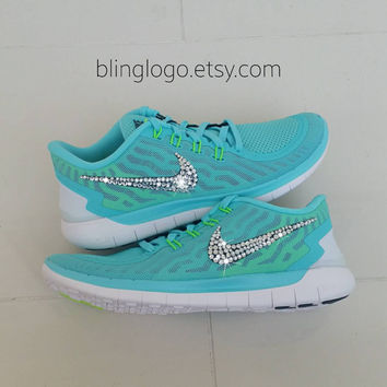 Bling Nike Free 5.0 With Swarovski Crysral Rhinestones - Bling Nikes f7c465e22d