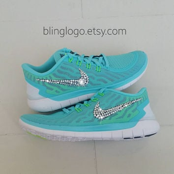 Bling Nike Free 5.0 With Swarovski Crysral Rhinestones - Bling Nikes, Bling Shoes, Blinged Out Nikes