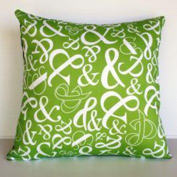 Organic cotton Ampersand typography cushion by mybeardedpigeon