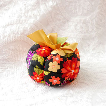 Fall Plush Fabric Pumpkin in Autumn Gold by boutiquevintage72