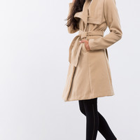 Oversize Camel Fleece Coat
