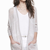 OVERSIZED MARLED OPEN STITCH COVER-UP from EXPRESS